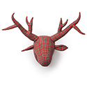 Plaid Deer - Wall Mount