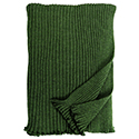 Emerald - Lambswool Ribbed Scarf