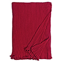 Burgundy - Lambswool Ribbed Scarf