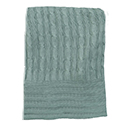 Clover - Green - Bamboo Cable Knit Blanket