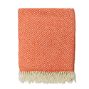 Charlotte Orange - Herringbone Blanket